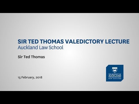 Sir Ted Thomas Valedictory Lecture