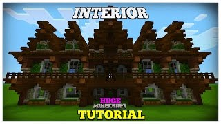 Minecraft: How To Build A Medieval House Medieval Mansion Tutorial Huge 2016 INTERIOR YouTube