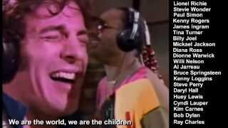 """ We are the world ""  USA for AFRICA"