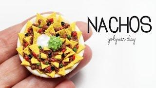 polymer clay Nachos TUTORIAL | polymer clay food