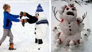 60 самых сумашедших идей для ваших снеговиков