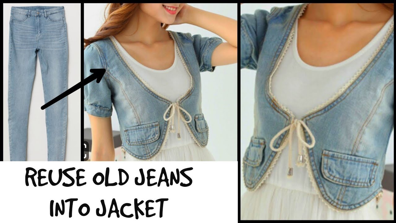 DIY Men's Old Jeans into Jacket / Recycle/Reuse Old jeans ...