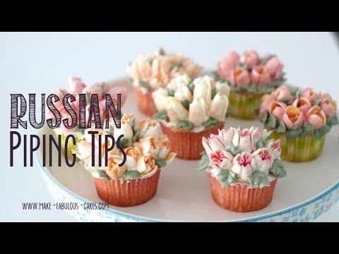 Russian Piping Tips - Flower Cupcakes