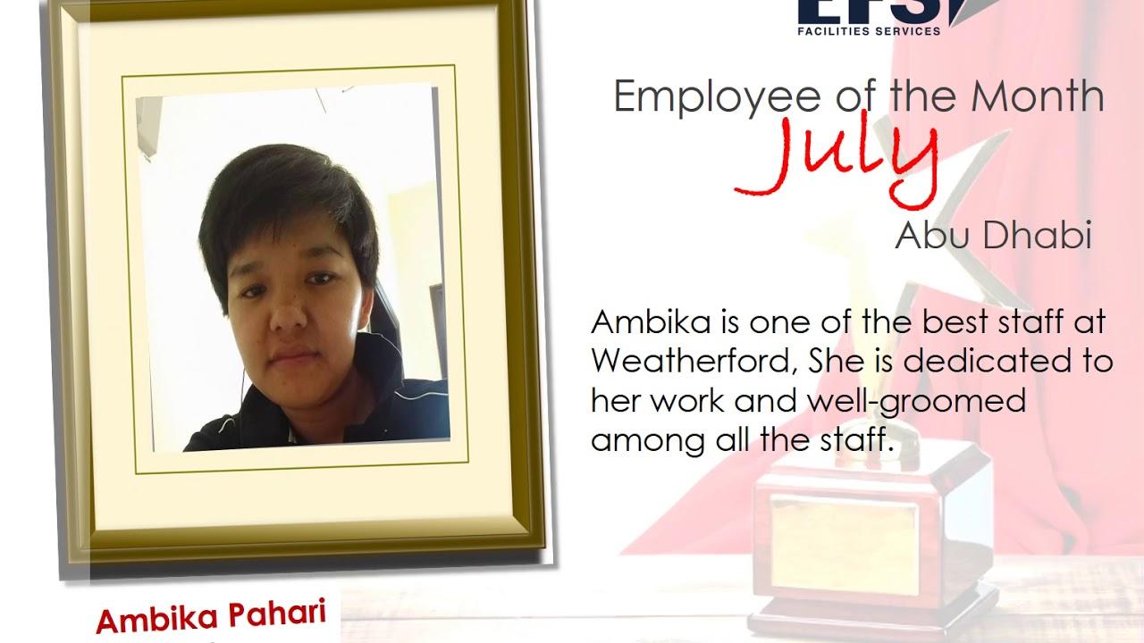 EFS Abu Dhabi | Employee of the Month 2017 - YouTube