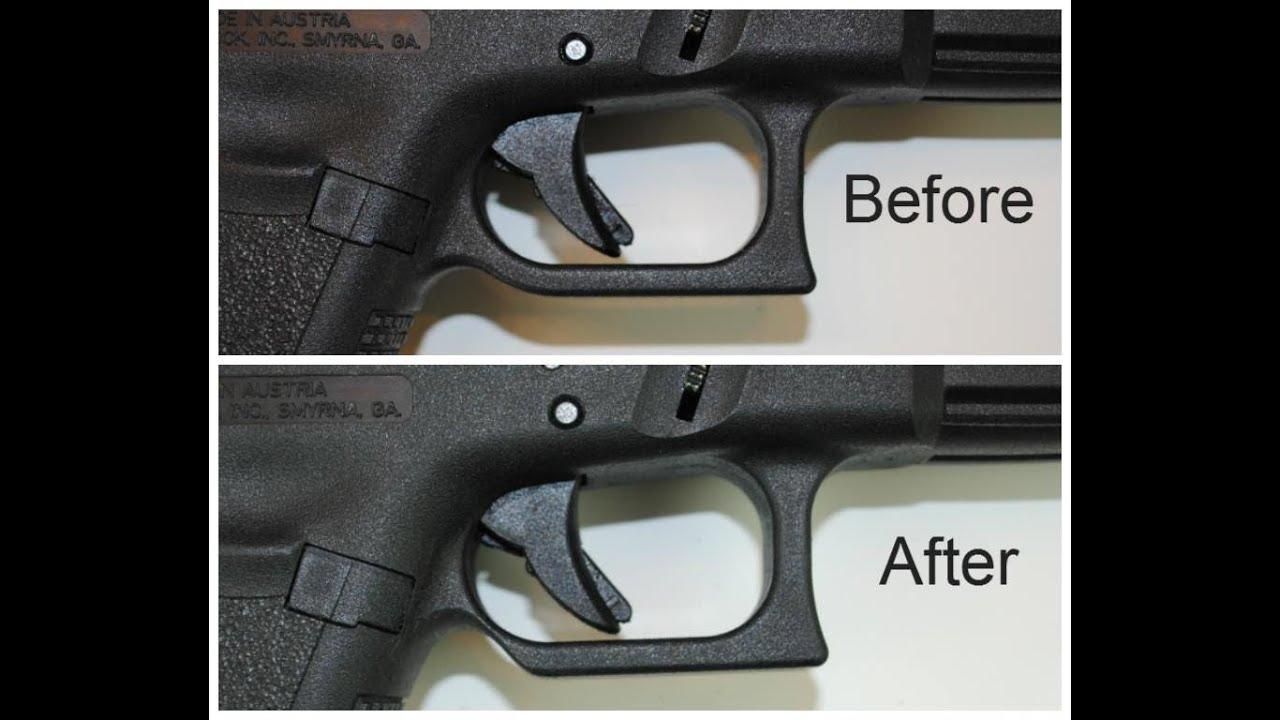 diy glock trigger guard relief cut wwwglockmodsus