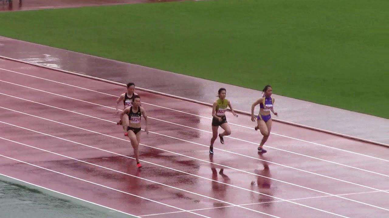 2020国体少年B女子100m - YouTube