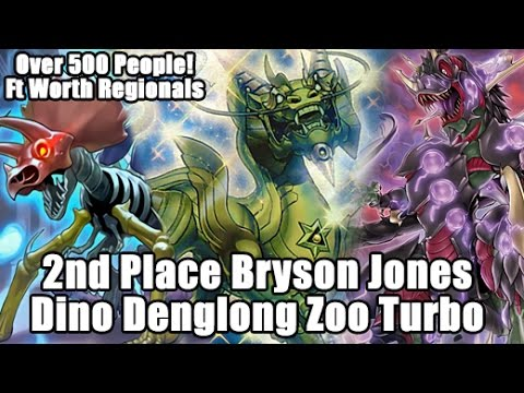 2nd Place Bryson Jones Dinosaur Denglong Zoo Turbo (56 Cards) Fort Worth's 500 Person Regionals