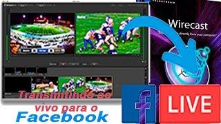 Transmitindo ao vivo para o Facebook com o Wirecast 7.1 2016.