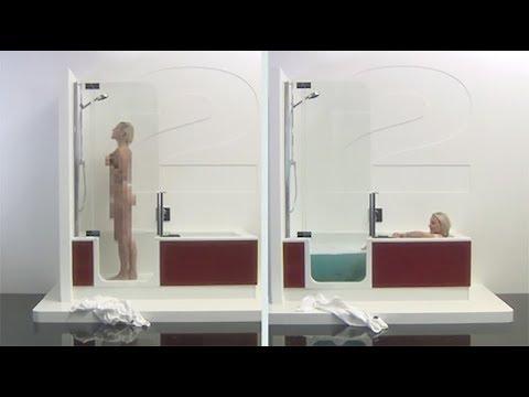 artweger twinline 2 baignoire douche la baignoire du futur youtube. Black Bedroom Furniture Sets. Home Design Ideas