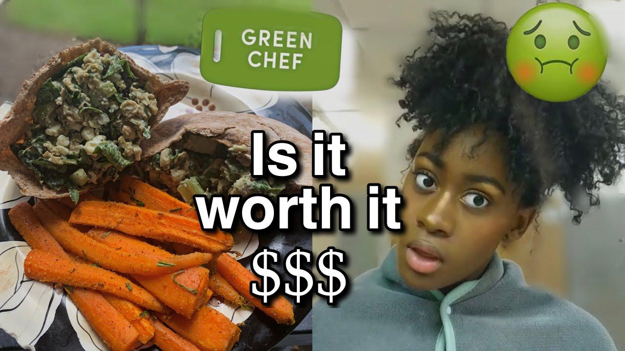 GREEN CHEF VEGAN REVIEW// healthy meals for beginner vegans //