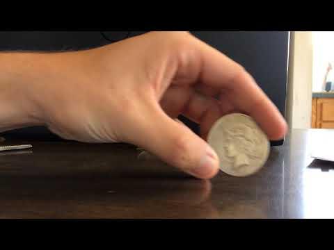 Two-Face 1922 Liberty Peace Coin Replica Prop Unboxing + Epic Slo-Mo Coin Flip