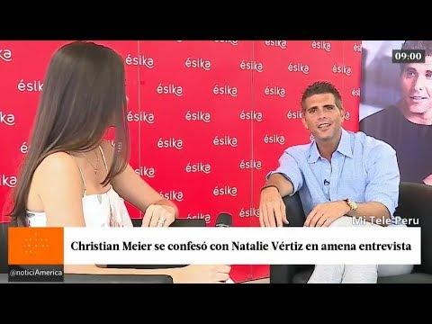 ChristianMeier tuvo una amena conversación con Natalie Vértiz.
