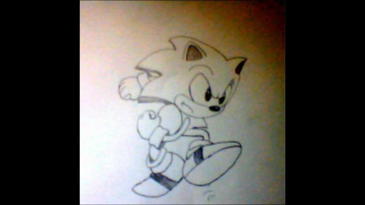 Drawing Classic Sonic Step By Step Youtube