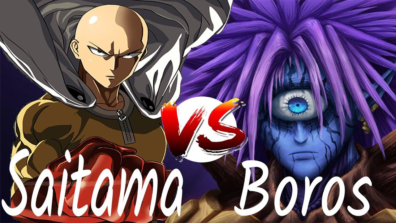 One Punch Man Saitama Vs Boros Vostfr Full Hd 1080p 60 Fps Boss S1 Youtube