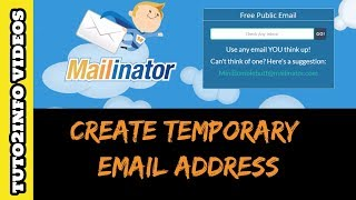 How to Create Temporary Email Address for Account Verification | Free email Generator | Quickly