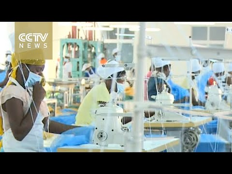 Chinese factory producing mosquito nets in Uganda