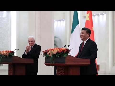 Italian President Sergio Mattarella on state visit to China