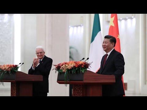 Italian President Sergio Mattarella on state visit to China