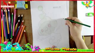 Drawing and Coloring for Kids: Cute Pokemon and Meatball Spaghetti Painting for Kids