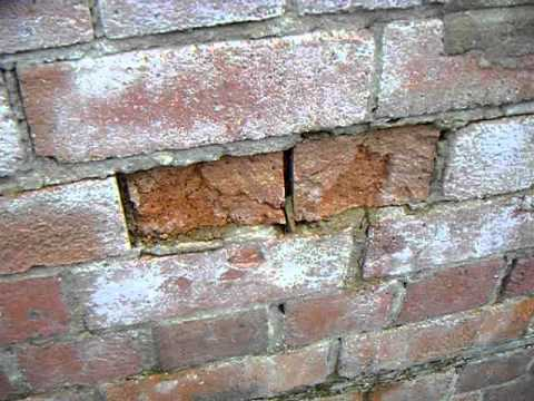 Spalling Brickwork Caused By Frost Damage Youtube