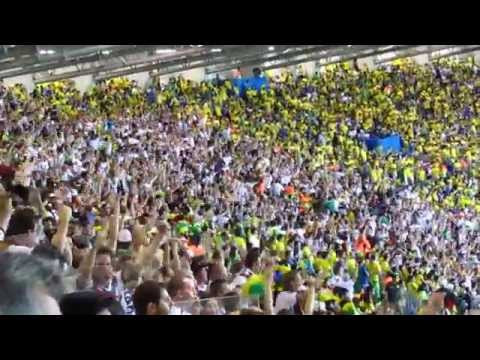 Third and fourth German goals celebration in the stadium in a single quick shot