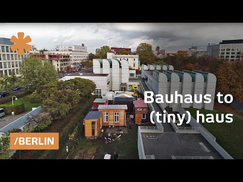 bauhaus to tiny haus micro home village in modernist berlin youtube. Black Bedroom Furniture Sets. Home Design Ideas