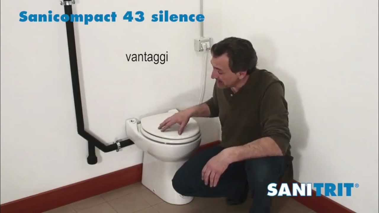 Wc Con Scarico Piccolo.Sanicompact 43 Silence Sanitrit Youtube