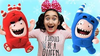 Funny Kids colored Oddbods, pretend play hide and seek