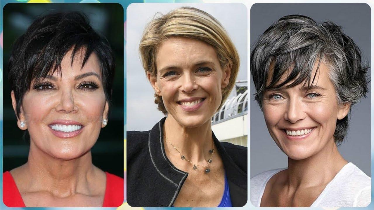 Encantador peinados años 50 pelo corto Galería De Consejos De Color De Pelo - Corte de cabello corto para dama de 50 años el verano 2018 ...