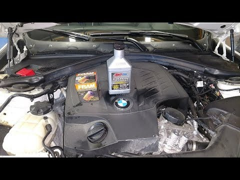 2013 BMW F30 335 Oil Change with Amsoil