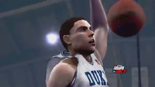 College Hoops 2K7 Gameplay (Xbox 360) Duke Blue Devils vs North Carolina Tar Heels