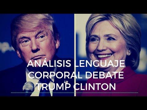 Análisis lenguaje corporal debate Donald Trump Hillary Clinton