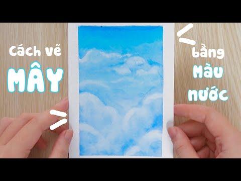 Vẽ MÂY bằng màu nước   Bóc băng keo giấy mà không rách giấy?