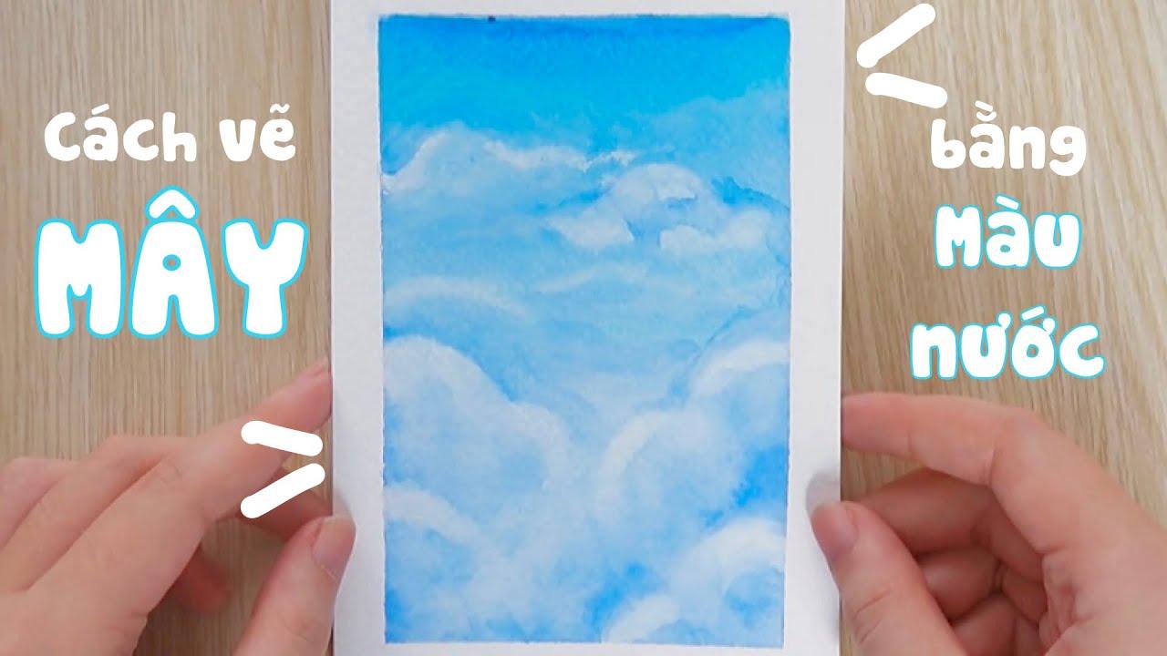 Vẽ MÂY bằng màu nước   Bóc băng keo giấy mà không rách giấy?   Tất tần tật những nội dung liên quan phong cảnh anime dễ vẽ đầy đủ nhất