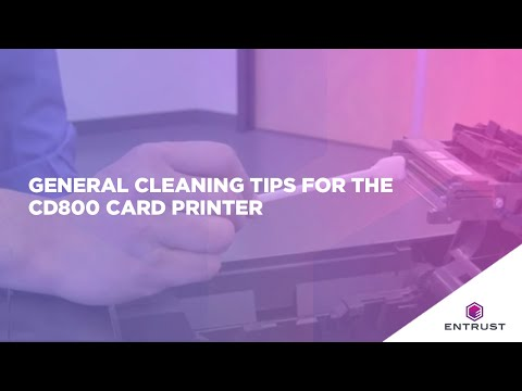 General Cleaning Tips for the CD800 Card Printer