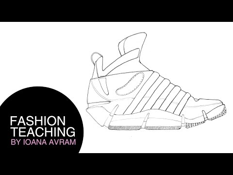 how to draw kd shoes