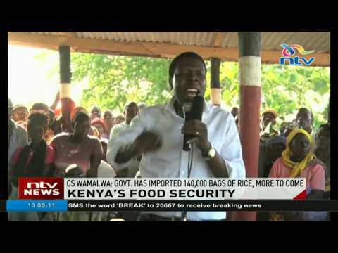 Kenya's food security: Government imports 140,000 bags of rice,says more to come