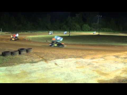 Full Throttle Outlaw Kart Series A Main 6-6-15 I 20 Speedway