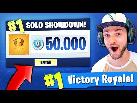 Playing Fortnite: Battle Royale for 50,000 V-BUCKS...!