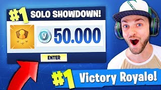 Playing Fortnite Battle Royale for 50,000 V-BUCKS...