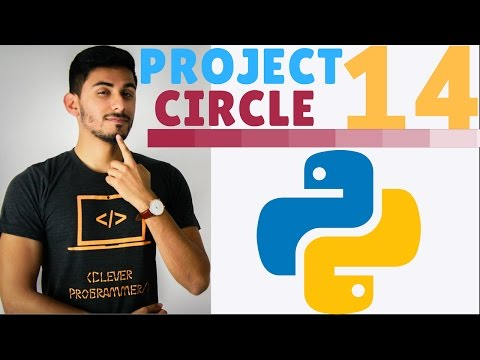 Learn Python Programming - 14 - PROJECT 1 Circle of Squares