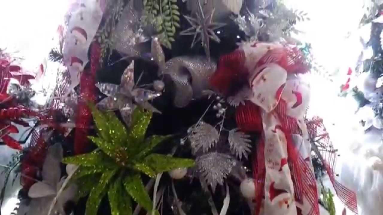 Decoracion arboles de navidad 2017 con flores parte 11 - Arboles de navidad ...