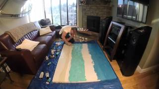 Double canvas Ocean painting by Ryan Moore