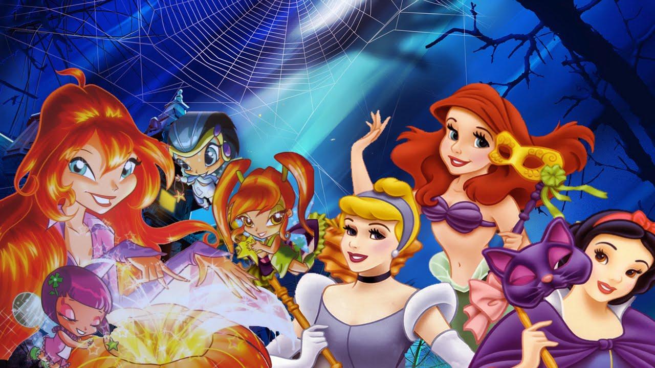 Monster high winx club and disney princess halloween makeover compilation 2014 youtube - Princesse winx ...