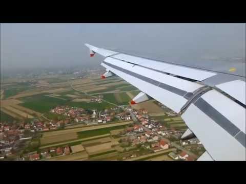 British Airways A320 Landing in Zagreb