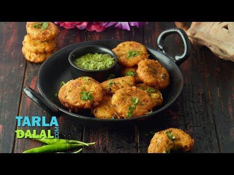 Potato Cheese Garlic Tikki Recipe by Tarla Dalal