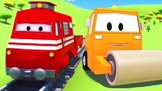 火车特洛伊和压路机在火车城 ???? 儿童卡通片