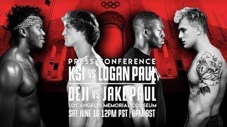 KSI VS Logan Paul | DEJI VS Jake Paul | Press Conference