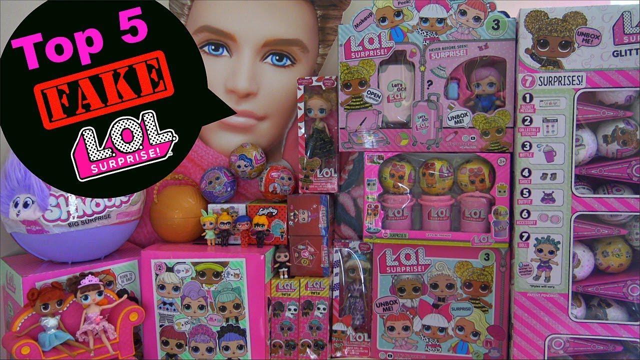 Top 5 Best Fake Lol Surprise Dolls Fake Lol Surprise Bigger Surprise