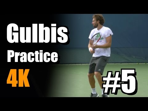 Ernests Gulbis in 4k   Practice #5   Western & Southern Open 2014